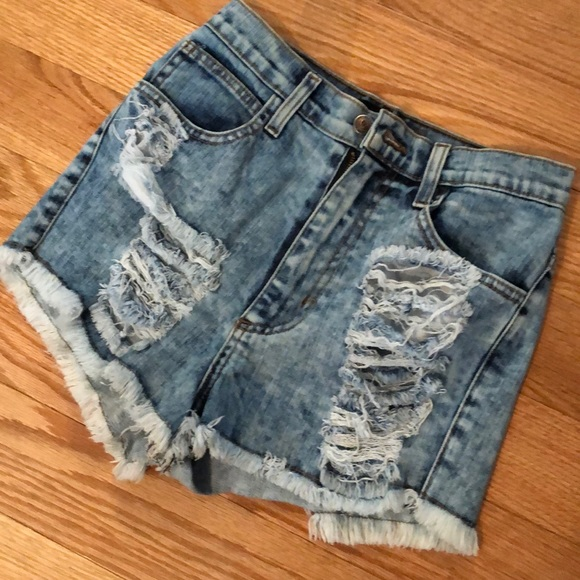 goodtime Pants - Ripped High-rise shorts